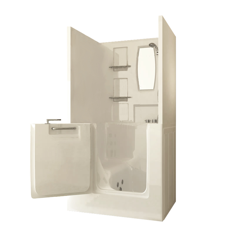 Small shower enclosure sanctuary walk in tub walk in - Walk in tub and shower units ...