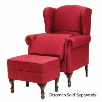 Risedale Chair With Optional Ottoman in Cabernet